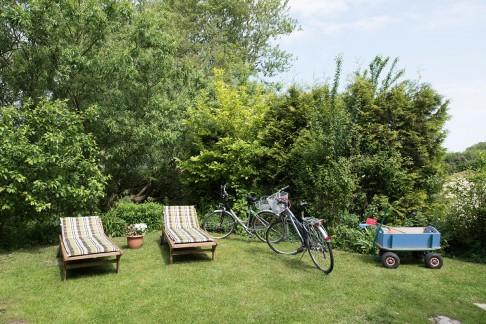 Terasse - Blick auf den Garten